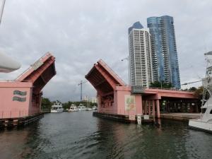 SE 3rd Ave Bridge opens for us, 5 bridges in total.