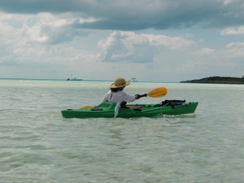 We take the Kayaks around the Bay