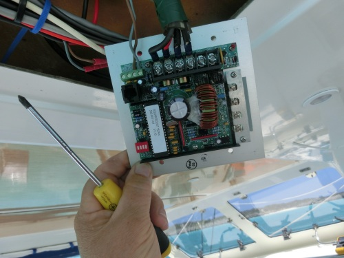 Paul gets hand on with the Solar controller