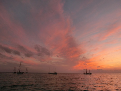 20130503 Bahamas Great Guana Cay Black Point settlement Sunset 9