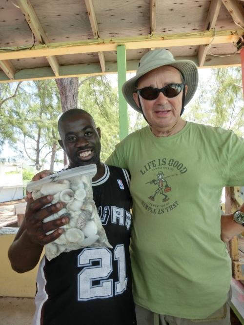 David Ward the Shell Man with paul