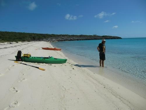 We Kayak ashore to ecplore