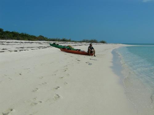 We kayak ashore to explore