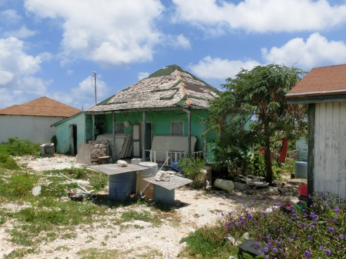 Hurricane damaged buildings tell a tale